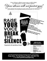 Raise Your Voice - Break The Silence Flyer